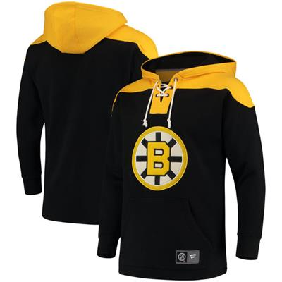 Boston Bruins (Fanatics Boston Bruins Fleece Lace Up Hoody)