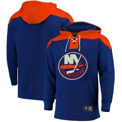 New York Islanders (Fanatics New York Islanders Fleece Lace Up Hoody - Mens)