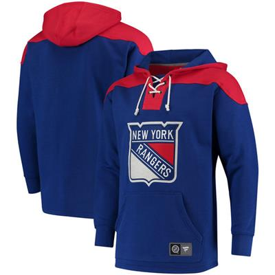 New York Rangers (Fanatics New York Rangers Fleece Lace Up Hoody)