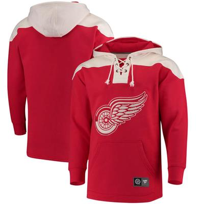 Detroit Red Wings (Fanatics Detroit Red Wings Fleece Lace Up Hoody)