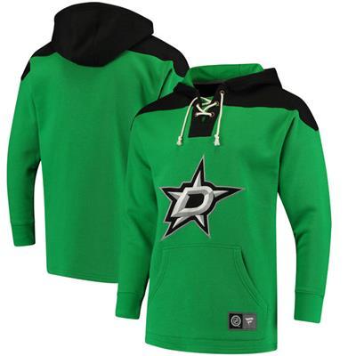 Dallas Stars (Fanatics Dallas Stars Fleece Lace Up Hoody - Mens)