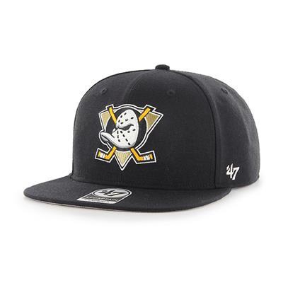 Front (47 Brand Anaheim Ducks Sure Shot Throwback Snapback Hat)