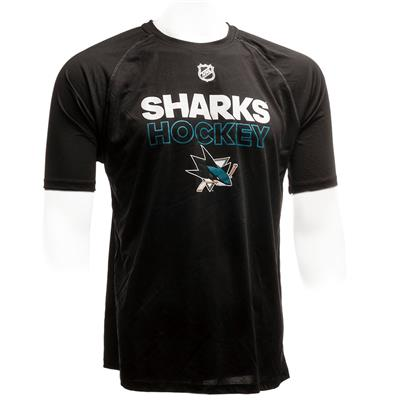 San Jose Sharks (Adidas San Jose Sharks Authentic Ice Short Sleeve Tee)