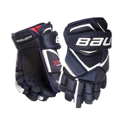 Navy/White (Bauer Vapor Matrix Pro Hockey Gloves - 2017)