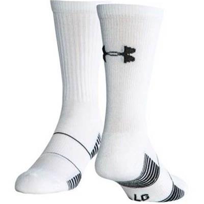 White (Under Armour Team Crew Sock - Adult)