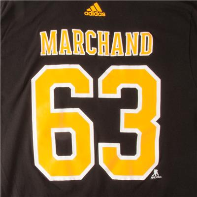 (Adidas Boston Bruins Marchand Short Sleeve Tee - Mens)