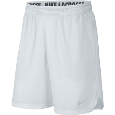 (Nike Mens Knit Lacrosse Shorts - White)