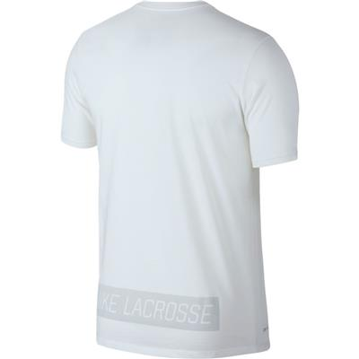 (Nike Dry Tee Lacrosse DFCT - White)