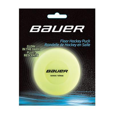 (Bauer Glow In The Dark Floor Hockey Puck)