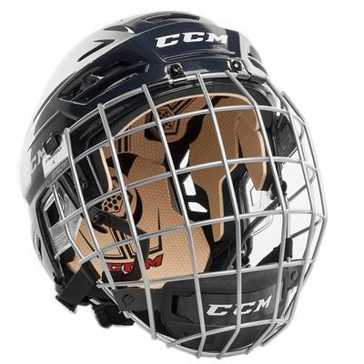 Navy (CCM Tacks 110 Hockey Helmet Combo)