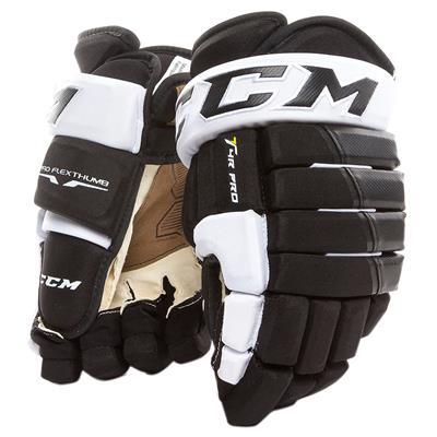 Black/White (CCM 4R Pro Hockey Gloves)