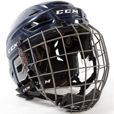 Navy (CCM Tacks 710 Helmet Combo)