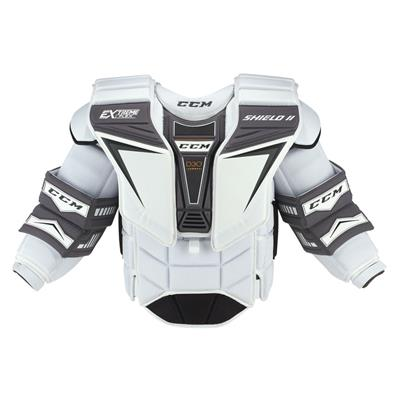 White (CCM Extreme Flex Shield II Goalie Chest And Arm Protector - Senior)