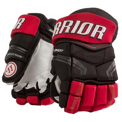 Black/Red (Warrior Covert QRE Pro Hockey Gloves - Senior)
