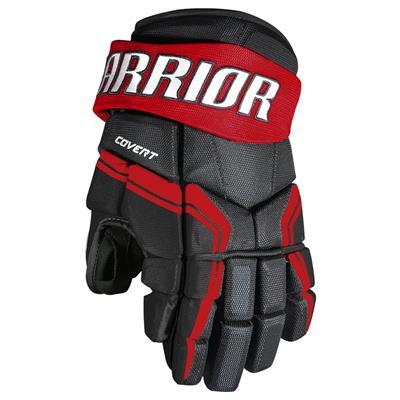 Black/Red (Warrior Covert QRE3 Hockey Gloves - Junior)