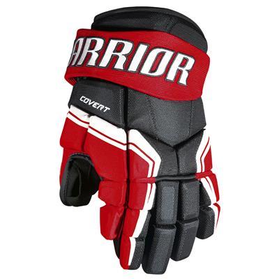 Black/Red/White (Warrior Covert QRE3 Hockey Gloves - Junior)