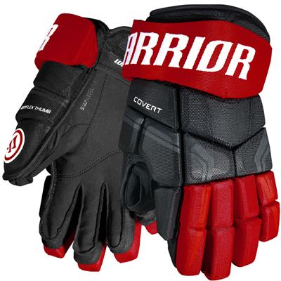 edb2ea6a74f Black Red (Warrior Covert QRE4 Hockey Gloves - Junior)