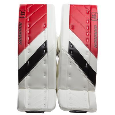 White/Black/Red (Warrior Ritual G4 Goalie Leg Pads - Senior)