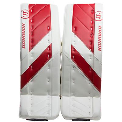 White/Red (Warrior Ritual G4 Goalie Leg Pads - Senior)