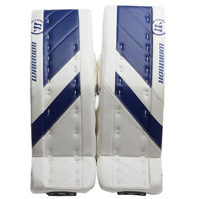 White/Blue (Warrior Ritual G4 Goalie Leg Pads)