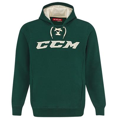 Dark Green/Cream (CCM True To Hockey Pullover Lace Hoody - Senior)