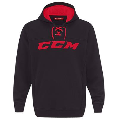 Black/Red (CCM True To Hockey Pullover Lace Youth Hoody - Youth)