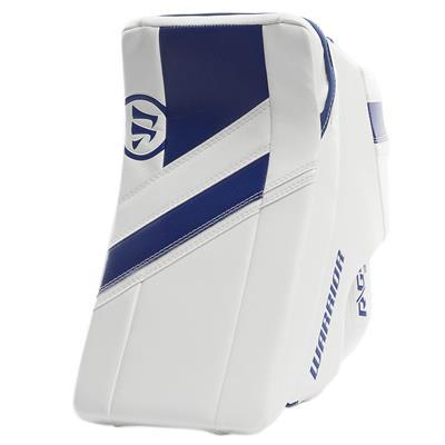White/Blue (Warrior Ritual G4 Goalie Blocker - Junior)