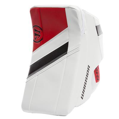 White/Black/Red (Warrior Ritual G4 Goalie Blocker - Intermediate)