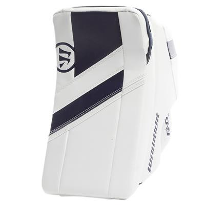 White/Navy (Warrior Ritual G4 Goalie Blocker - Intermediate)