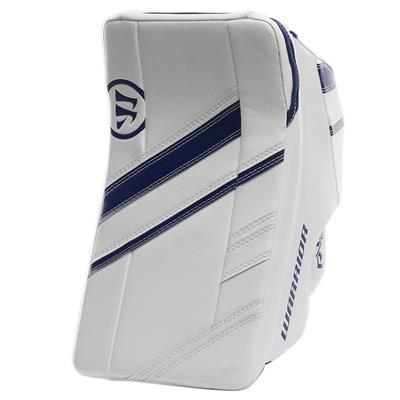 White/Blue (Warrior Ritual G4 Pro Goalie Blocker)