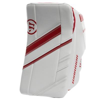 White/Red (Warrior Ritual G4 Pro Goalie Blocker)