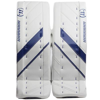 White/Blue (Warrior Ritual G4 Pro Goalie Leg Pads - Senior)