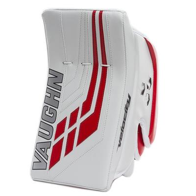 White/Red (Vaughn Velocity VE8 Pro Carbon Goalie Blocker)