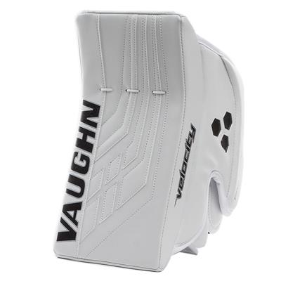 White/White (Vaughn Velocity VE8 Pro Carbon Goalie Blocker)
