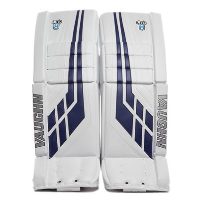 White/Blue (Vaughn Velocity VE8 Pro Carbon Goalie Leg Pads)