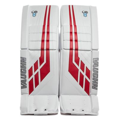 White/Red (Vaughn Velocity VE8 Pro Carbon Goalie Leg Pads)