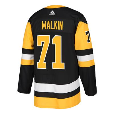 Back (Adidas Pittsburgh Penguins Malkin #71 Authentic NHL Jersey - Home)