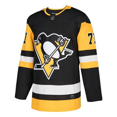 Front (Adidas Pittsburgh Penguins Malkin #71 Authentic NHL Jersey - Home - Adult)