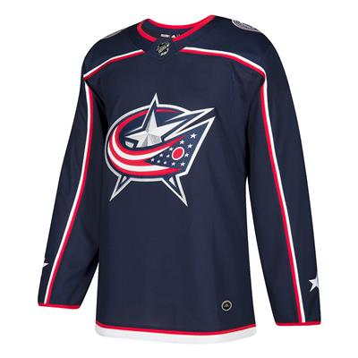 Front (Adidas Columbus Blue Jackets Authentic NHL Jersey - Home - Adult)
