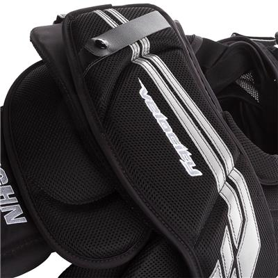 (Vaughn Velocity VE8 Pro Carbon Goalie Chest and Arm Protector - Senior)