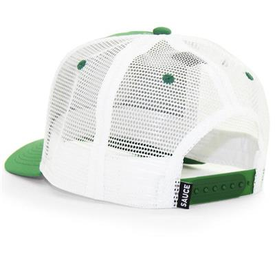 Back (Sauce Hockey Bubble Wrap Adjustable Hockey Hat - Green - Adult)