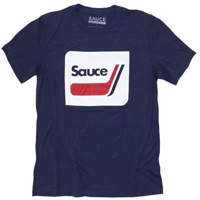 Navy (Sauce Hockey Retro Sticks Hockey Tee Shirt - Mens)