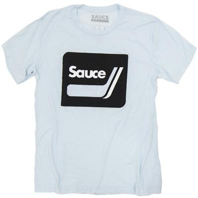 Ice Blue (Sauce Hockey Retro Sticks Hockey Tee Shirt - Mens)