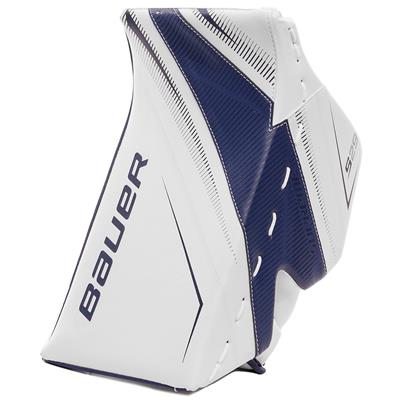 White/Blue (Bauer Supreme S29 Goalie Blocker - Intermediate)