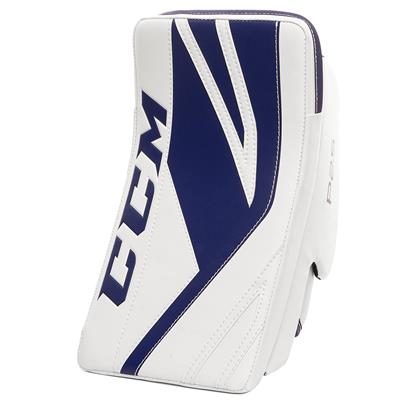White/Blue (CCM Premier P2.5 Goalie Blocker - Junior)