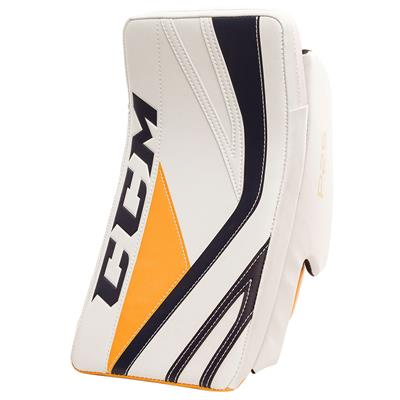 White/Navy/Gold (CCM Premier P2.5 Goalie Blocker - Junior)