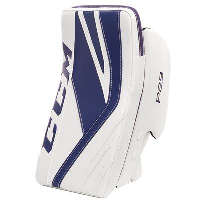 White/Blue (CCM Premier P2.9 Goalie Blocker - Senior)