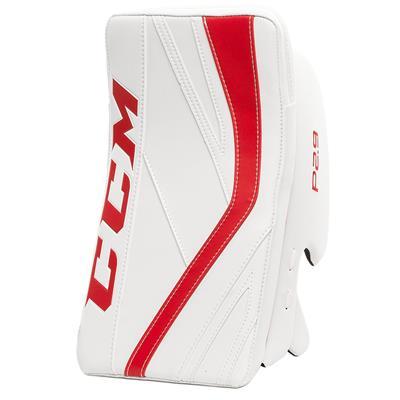 White/Red (CCM Premier P2.9 Goalie Blocker - Senior)