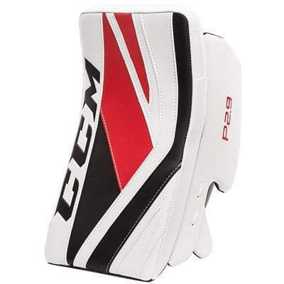 White/Red/Black (CCM Premier P2.9 Goalie Blocker - Senior)