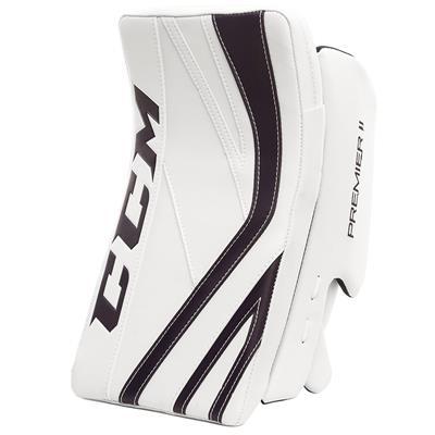 White/Navy (CCM Premier II Pro Goalie Blocker)